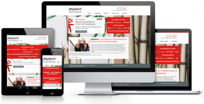 Webdesign für Chemnitzer Physiotherapie Physiovit Chemnitz
